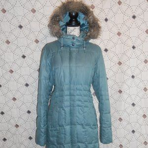 EUC Eddie Bauer Blue Lodge Goose Down Parka L